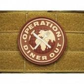 JTG OPERATION DINNER OUT PATCH DESERT-CHOCOLAT  3D RUBBER