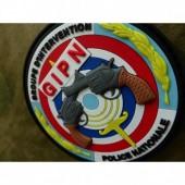 JTG - GROUPE D INTERVENTION POLICE NATIONALE PATCH, FULLCOLOR / 3D RUBBER PATCH