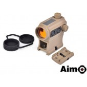 AIM-O RED DOT WITH RISER MOUNT LOW DESERT SOLAR POWER