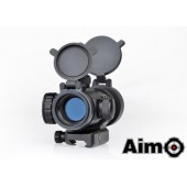 AIM-O AIMPOINT M3 RED/GREEN DOT WITH SHAPED MOUNT BLACK