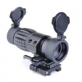 AIM-O ET STYLE 4X FXD MAGNIFIER WITH ADJUSTABLE QD MOUNT BLACK