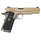 KJ WORKS K1911 M.E.U. (KP-07) HI-CAPA CO2 BLOWBACK TAN