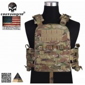 EMERSON NAVY CAGE PLATE CARRIER TACTICAL VEST MULTICAM