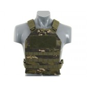 8FIELDS SIMPLE PLATE CARRIER WITH DUMMY SOFT ARMOR INSERTS MULTICAM TROPIC