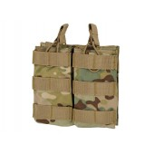 8FIELDS MODULAR OPEN TOP DOUBLE MAG POUCH FOR M4 - MULTICAM