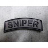 JTG SNIPER TAB PATCH BATTLEGREY 3D RUBBER