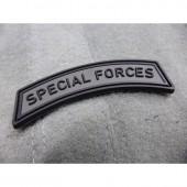 JTG SPECIAL FORCES TAB PATCH BATTLEGREY 3D RUBBER