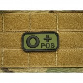 JTG BLOOD TYPE PATCH O POSITIVE FOREST 3D RUBBER