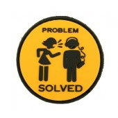 8FIELDS PROBLEAM SOLVED PVC PATCH BLACK/YELLOW