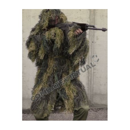MILTEC GHILLIE PARKA 'ANTI FIRE' WOODLAND