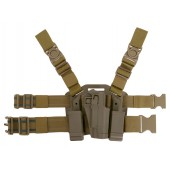 CS HOLSTER W/DROP LEG PLATFORM FOR 1911 SERIES - TAN