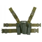 CS HOLSTER W/DROP LEG PLATFORM FOR 1911 SERIES - OLIVE