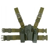 CS HOLSTER W/DROP LEG PLATFORM FOR GLOCK SERIES - OLIVE