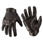 MILTEC BLACK LEATHER/ARAMIDE TACTICAL GLOVES