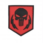 ACM PATCH 3D PVC PUNISHER THUNDER STROKES RED