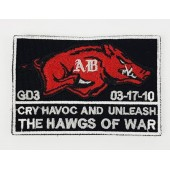 """EMERSON NAVY SEALS """"THE HAWGS OF WAR"""" PATCH-2 BLACK"""
