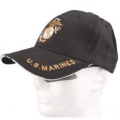 ACM BASEBALL CAP-BK US MARINES