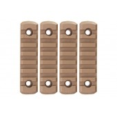 GK TACTICAL M-LOK NYLON 7 PICATINNY RAIL SECTIONS (4 PCS/SET) - COYOTE BROWN