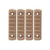 GK TACTICAL M-LOK NYLON 7 PICATINNY RAIL SECTIONS (4 PCS/SET) - COYOTE BROWN