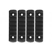 GK TACTICAL M-LOK NYLON 7 PICATINNY RAIL SECTIONS (4 PCS/SET) - BLACK