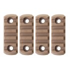 GK TACTICAL M-LOK NYLON 5 PICATINNY RAIL SECTIONS (4 PCS/SET) - COYOTE BROWN