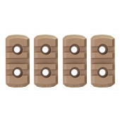 GK TACTICAL M-LOK NYLON 3 PICATINNY RAIL SECTIONS (4 PCS/SET) - COYOTE BROWN