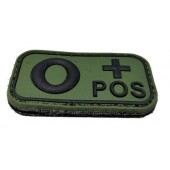 ACM PATCH 3D PVC BLOOD TYPE O+ POSITIVE OD