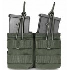 WARRIOR DOUBLE MOLLE OPEN G36 MAGAZINE POUCH (BUNGEE RETENTION) - OLIVE DRAB