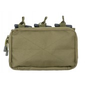 8FIELDS MOLLE TRIPLE RIFLE MAG/GP POUCH - OLIVE DRAB