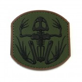 EMERSON FROG SKELETON PVC PATCH - GREEN/BLACK