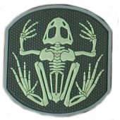 EMERSON FROG SKELETON PVC PATCH -GID/GREEN