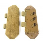 HUSAR SHOULDER PADS LOW-PROFILE GEN. 2 - COYOTE BROWN
