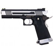 AW CUSTOM HX10 SERIES SPLIT FRAME HI-CAPA COMPETITION GRADE GAS BLOWBACK PISTOL - TWO TONE