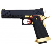 AW CUSTOM HX20 SERIES COMPETITOR HI-CAPA GAS BLOWBACK PISTOL - BLACK / GOLD