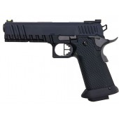 AW CUSTOM HX20 SERIES COMPETITOR HI-CAPA GAS BLOWBACK PISTOL - BLACK