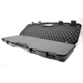 MEGALINE BLACK PLASTIC CASE W/ CUBIC FOAM - 97 X 25 X 10 CM