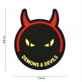 ACM PATCH 3D PVC DEMONS & DEVILS BLACK/YELLOW