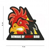 ACM PATCH 3D PVC BEWARE OF ANGRY BIRD TRAINGLE