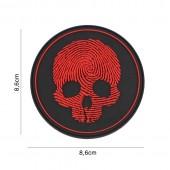 ACM PATCH 3D PVC FINGERPRINT RED