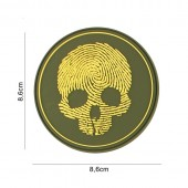 ACM PATCH 3D PVC FINGERPRINT SKULL YELLOW