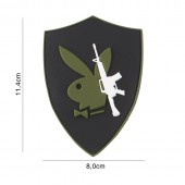 ACM PATCH 3D PVC PLAYBOY GUN