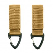 ACM MOLLE CARABINER HOOK 2-PACK JFO02 TAN