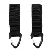 ACM MOLLE CARABINER HOOK 2-PACK JFO02 BLACK