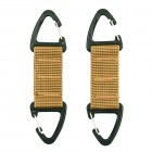ACM DOUBLE CARABINER HOOK 2-PACK JFO01 TAN