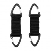 ACM DOUBLE CARABINER HOOK 2-PACK JFO01 BLACK