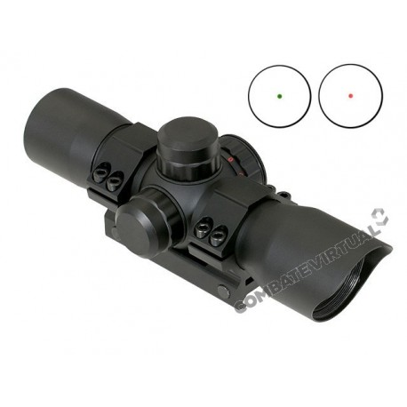 PCS RIFLE SIGHT RED/GREEN DOT - BLACK