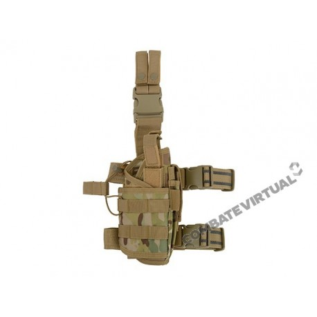 8FIELDS 2-WAYS CARRYING TYPE TACTICAL DROP LEG HOLSTER (LEFT-HANDED) - MULTICAM