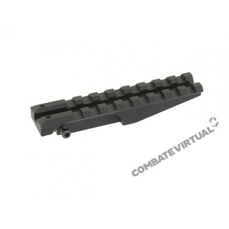 PCS AK REAR SIGHT RAIL FOR RED DOT OPTICS - BLACK