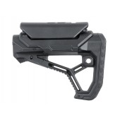 AR15/M4 STOCK WITH INTEGRATED CHEEK WELD - BLACK