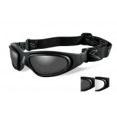 WILEY X SG-1 SMOKE/CLEAR MATTE BLACK FRAME